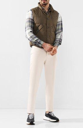 Мужские кожаные кроссовки BOTTEGA VENETA синего цвета, арт. 565646/VT040 | Фото 2