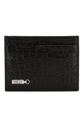 Мужской футляр для кредитных карт из кожи аллигатора ZILLI черного цвета, арт. MJL-0WC01-10100/0001/AMIS | Фото 1