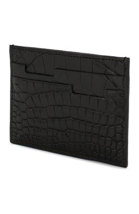 Мужской футляр для кредитных карт из кожи аллигатора ZILLI черного цвета, арт. MJL-0WC01-10100/0001/AMIS | Фото 2