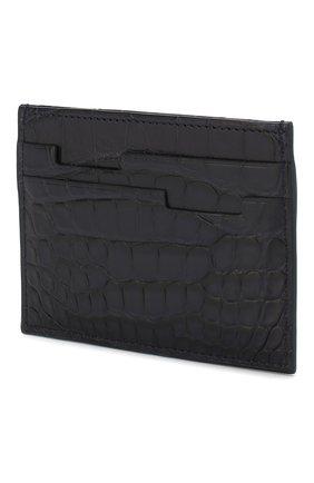 Мужской футляр для кредитных карт из кожи аллигатора ZILLI темно-синего цвета, арт. MJL-0WC01-10100/0001/AMIS | Фото 2