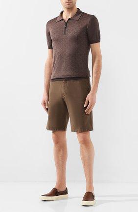 Мужские кожаные слипоны TOM FORD коричневого цвета, арт. J0985T-LCL020 | Фото 2