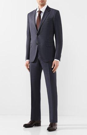 Мужские кожаные оксфорды TOM FORD темно-коричневого цвета, арт. J1030T-BET | Фото 2