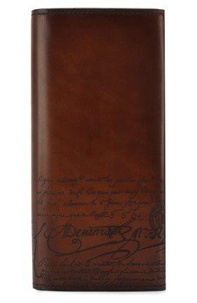Мужской кожаное портмоне BERLUTI коричневого цвета, арт. N152808 | Фото 1