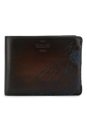 Мужской кожаное портмоне BERLUTI темно-синего цвета, арт. N196469 | Фото 1