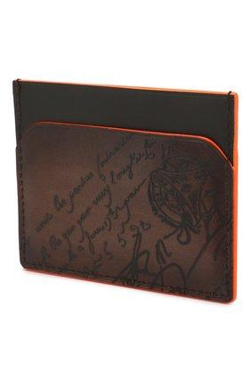 Мужской кожаный футляр для кредитных карт BERLUTI коричневого цвета, арт. N202366 | Фото 2