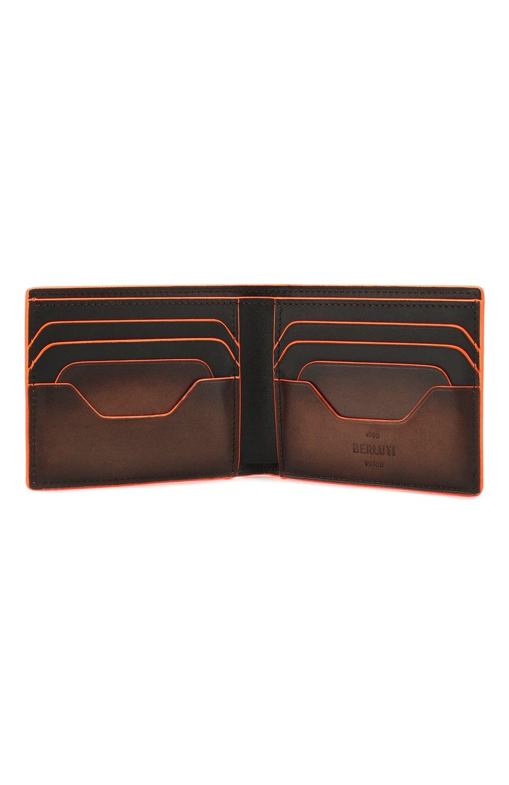 Мужской кожаное портмоне BERLUTI коричневого цвета, арт. N202367 | Фото 3