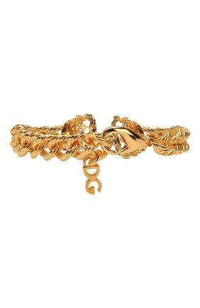 Мужской браслет DOLCE & GABBANA золотого цвета, арт. WBM1C1/W1111 | Фото 2