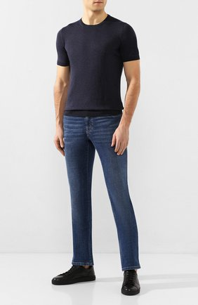 Мужские кожаные кеды MORESCHI черного цвета, арт. 90042925 | Фото 2