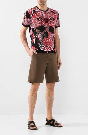 Мужские кожаные сандалии MORESCHI черного цвета, арт. 9392024 | Фото 2