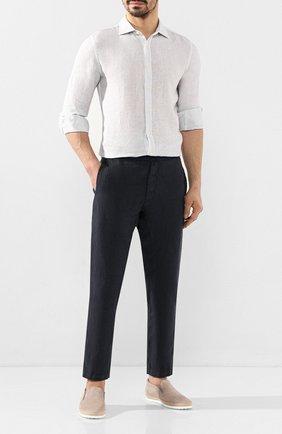 Мужские кожаные слипоны TOD'S светло-серого цвета, арт. XXM0TV0K9006RN | Фото 2