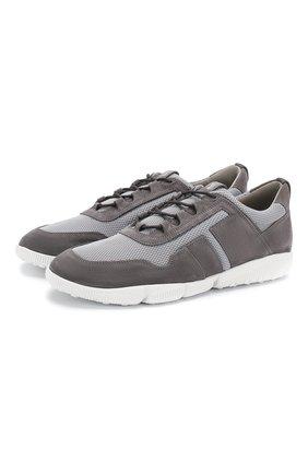 Мужские комбинированные кроссовки TOD'S серого цвета, арт. XXM25C0CP50MJA | Фото 1