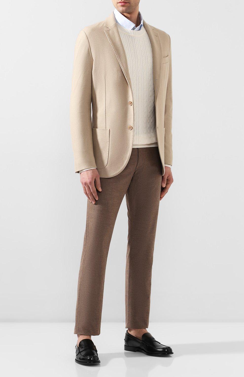Мужские кожаные пенни-лоферы TOD'S черного цвета, арт. XXM26C0C050AKT | Фото 2 (Мужское Кросс-КТ: Лоферы-обувь; Материал внутренний: Натуральная кожа; Стили: Классический)