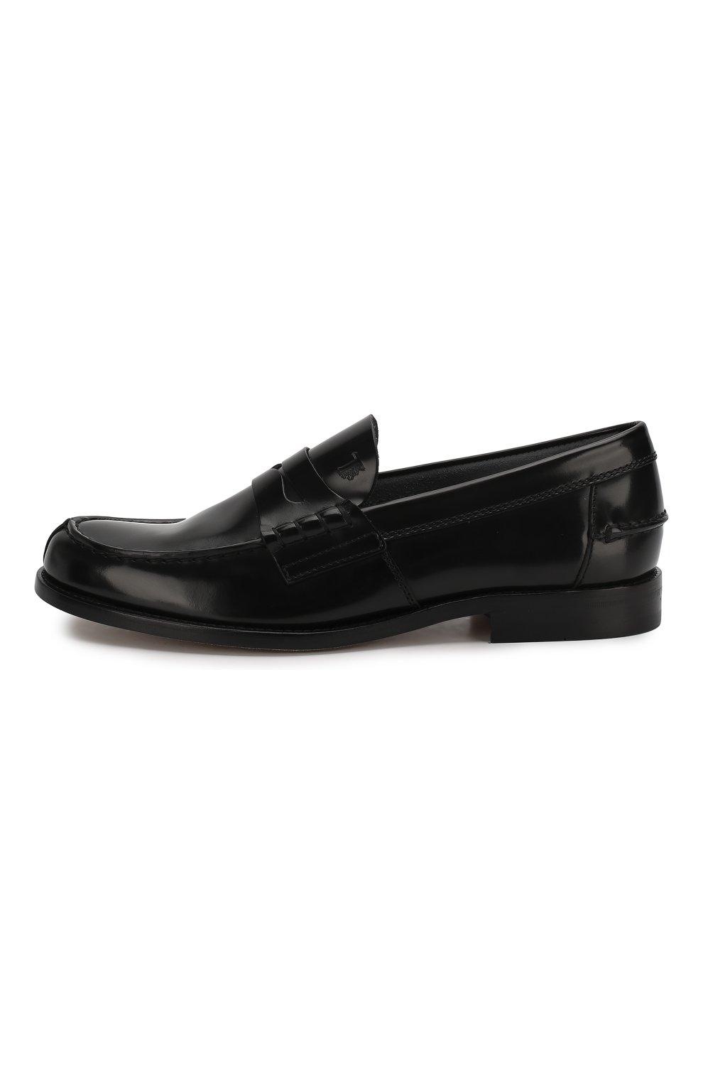 Мужские кожаные пенни-лоферы TOD'S черного цвета, арт. XXM26C0C050AKT | Фото 3 (Мужское Кросс-КТ: Лоферы-обувь; Материал внутренний: Натуральная кожа; Стили: Классический)