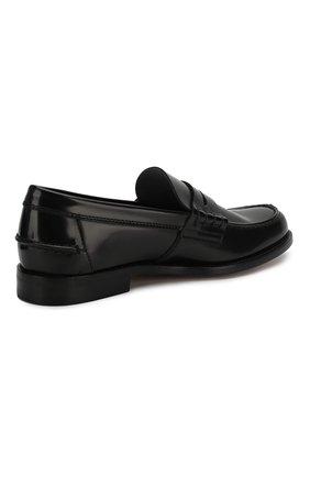 Мужские кожаные пенни-лоферы TOD'S черного цвета, арт. XXM26C0C050AKT | Фото 4 (Мужское Кросс-КТ: Лоферы-обувь; Материал внутренний: Натуральная кожа; Стили: Классический)