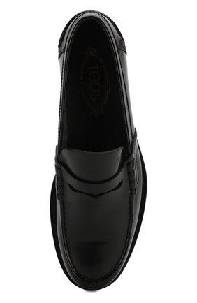 Мужские кожаные пенни-лоферы TOD'S черного цвета, арт. XXM26C0C050AKT | Фото 5 (Мужское Кросс-КТ: Лоферы-обувь; Материал внутренний: Натуральная кожа; Стили: Классический)