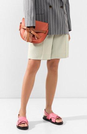 Женская сумка gate small LOEWE кораллового цвета, арт. 321.12.T20   Фото 2