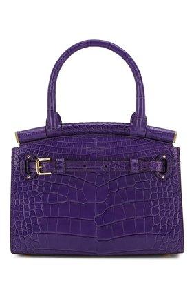 Женская сумка rl50 mini из кожи аллигатора RALPH LAUREN фиолетового цвета, арт. 435769101/AMIS | Фото 1
