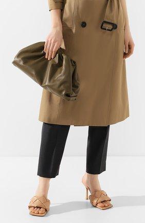 Женский клатч pouch BOTTEGA VENETA хаки цвета, арт. 576227/VCP40 | Фото 2