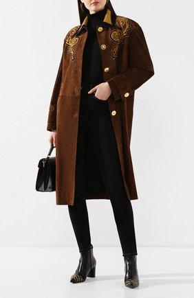Женские кожаные ботильоны CASADEI черного цвета, арт. 1Q000P0601C04189000 | Фото 2