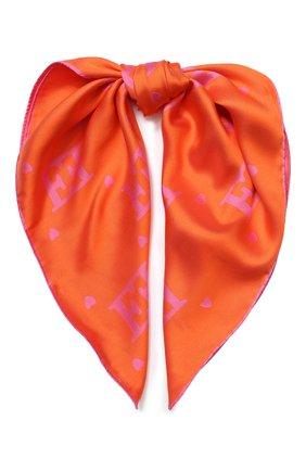 Женский шелковый платок ESCADA оранжевого цвета, арт. 5032368 | Фото 1