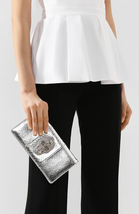 Женский клатч PHILIPP PLEIN серебряного цвета, арт. S20A WBA1142 PTE003N | Фото 2
