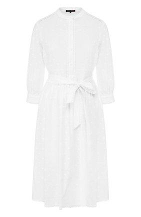 Женское хлопковое платье TEREKHOV GIRL белого цвета, арт. 2D153/0382.S100/S20 | Фото 1