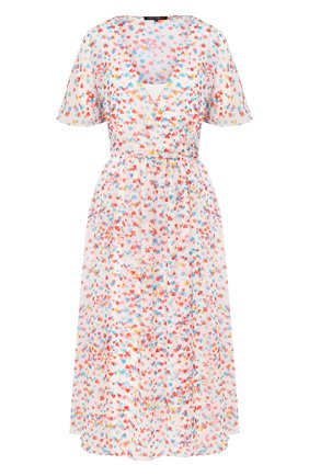 Женское платье-миди TEREKHOV GIRL белого цвета, арт. 2DE052/8122.HC100/S20 | Фото 1