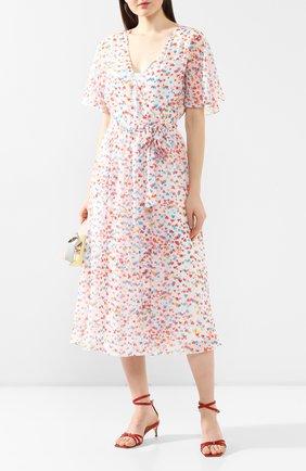 Женское платье-миди TEREKHOV GIRL белого цвета, арт. 2DE052/8122.HC100/S20 | Фото 2