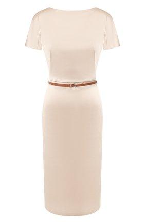 Женское платье с поясом TEREKHOV GIRL бежевого цвета, арт. 2DE041/8022.102/S20 | Фото 1