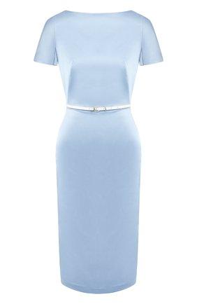 Женское платье с поясом TEREKHOV GIRL голубого цвета, арт. 2DE041/8677.401/S20 | Фото 1
