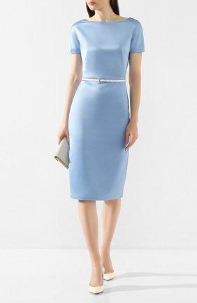 Женское платье с поясом TEREKHOV GIRL голубого цвета, арт. 2DE041/8677.401/S20 | Фото 2