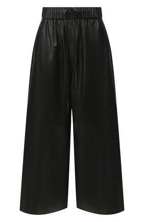 Женские кожаные кюлоты YVES SALOMON черного цвета, арт. 9EYP234XXAPXX | Фото 1