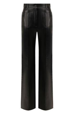 Женские кожаные брюки GUCCI черного цвета, арт. 599059/XNAH0 | Фото 1