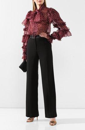 Женские шерстяные брюки DOLCE & GABBANA черного цвета, арт. FTBQRT/FUBAJ | Фото 2