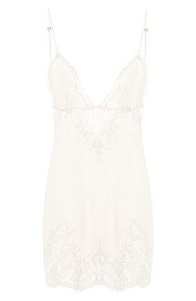 Женская шелковая сорочка LA PERLA белого цвета, арт. 0041930   Фото 1
