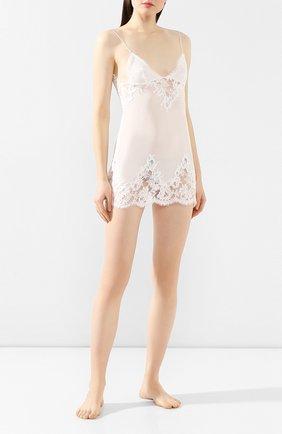 Женская шелковая сорочка LA PERLA белого цвета, арт. 0041930   Фото 2