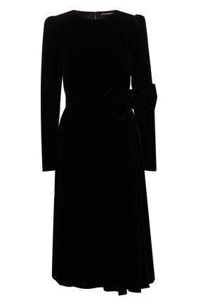 Женское бархатное платье DOLCE & GABBANA черного цвета, арт. F6G8MT/FUVKQ | Фото 1