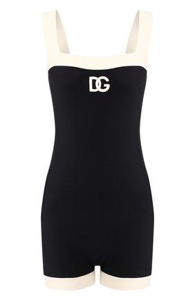 Женский слитный купальник DOLCE & GABBANA черно-белого цвета, арт. 09A48J/FUGA2   Фото 1