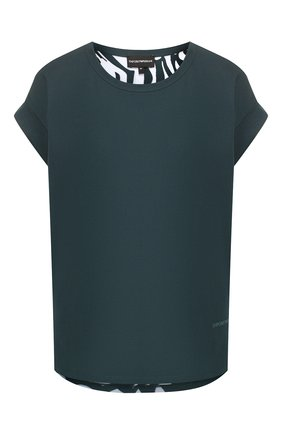 Женская хлопковая футболка EMPORIO ARMANI зеленого цвета, арт. 6G2T7L/2J16Z | Фото 1