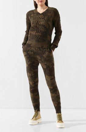Женская свитер POLO RALPH LAUREN хаки цвета, арт. 211780371 | Фото 2