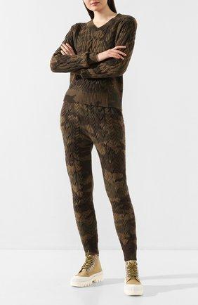 Женские джоггеры POLO RALPH LAUREN хаки цвета, арт. 211780440 | Фото 2