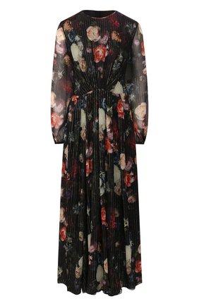 Женское шелковое платье ADAM LIPPES разноцветного цвета, арт. R20716MZ | Фото 1 (Рукава: Длинные; Материал внешний: Шелк; Материал подклада: Синтетический материал)