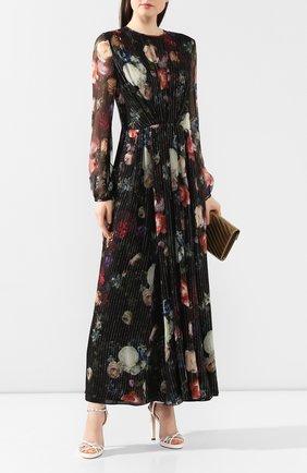 Женское шелковое платье ADAM LIPPES разноцветного цвета, арт. R20716MZ | Фото 2 (Рукава: Длинные; Материал внешний: Шелк; Материал подклада: Синтетический материал)