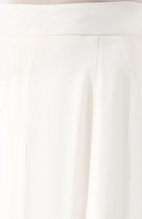 Женские брюки ADAM LIPPES белого цвета, арт. R20511SB | Фото 5 (Длина (брюки, джинсы): Удлиненные; Силуэт Ж (брюки и джинсы): Широкие; Женское Кросс-КТ: Брюки-одежда; Материал внешний: Синтетический материал; Статус проверки: Проверена категория)