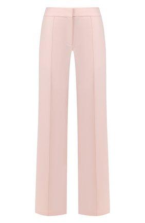 Женские шерстяные брюки ADAM LIPPES розового цвета, арт. R20507DW | Фото 1 (Материал внешний: Шерсть; Женское Кросс-КТ: Брюки-одежда; Статус проверки: Проверена категория)
