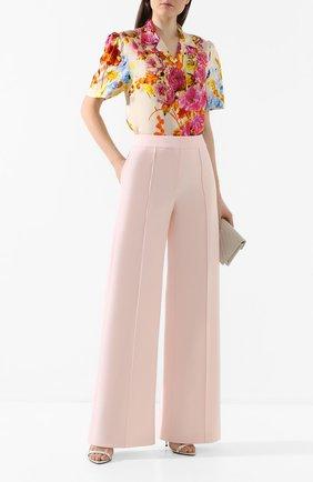 Женские шерстяные брюки ADAM LIPPES розового цвета, арт. R20507DW | Фото 2 (Материал внешний: Шерсть; Женское Кросс-КТ: Брюки-одежда; Статус проверки: Проверена категория)