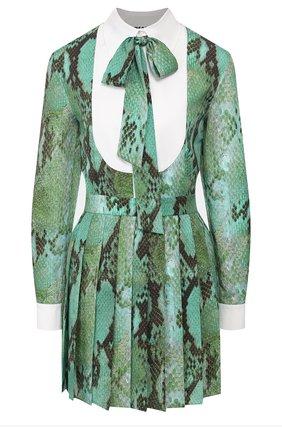 Женское платье MSGM светло-зеленого цвета, арт. 2841MDA163PY 207155 | Фото 1