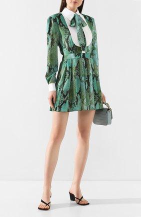 Женское платье MSGM светло-зеленого цвета, арт. 2841MDA163PY 207155 | Фото 2