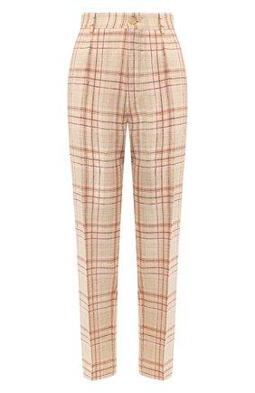 Женские льняные брюки FORTE_FORTE розового цвета, арт. 7022BIS | Фото 1