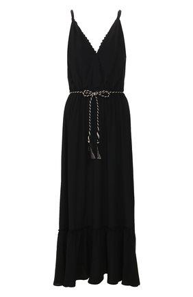 Женское платье с поясом FORTE_FORTE черного цвета, арт. 7070 | Фото 1